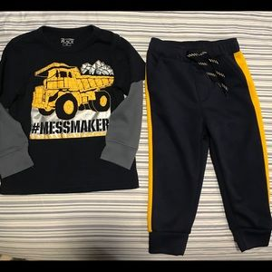 18-24 months joggers and tee set